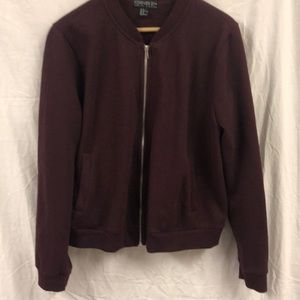 Forever 21+ maroon color sweater jacket